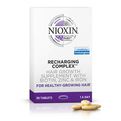 Nioxin Recharging Complex Hair Growth Supplement With Biotin