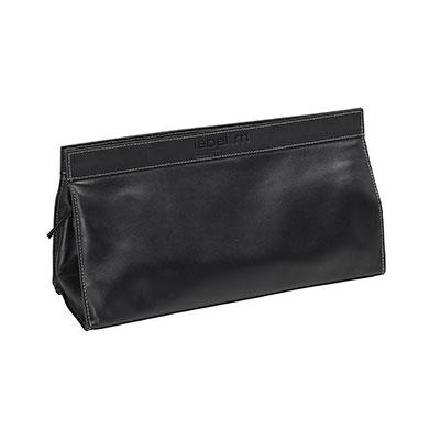 black leather tool bag